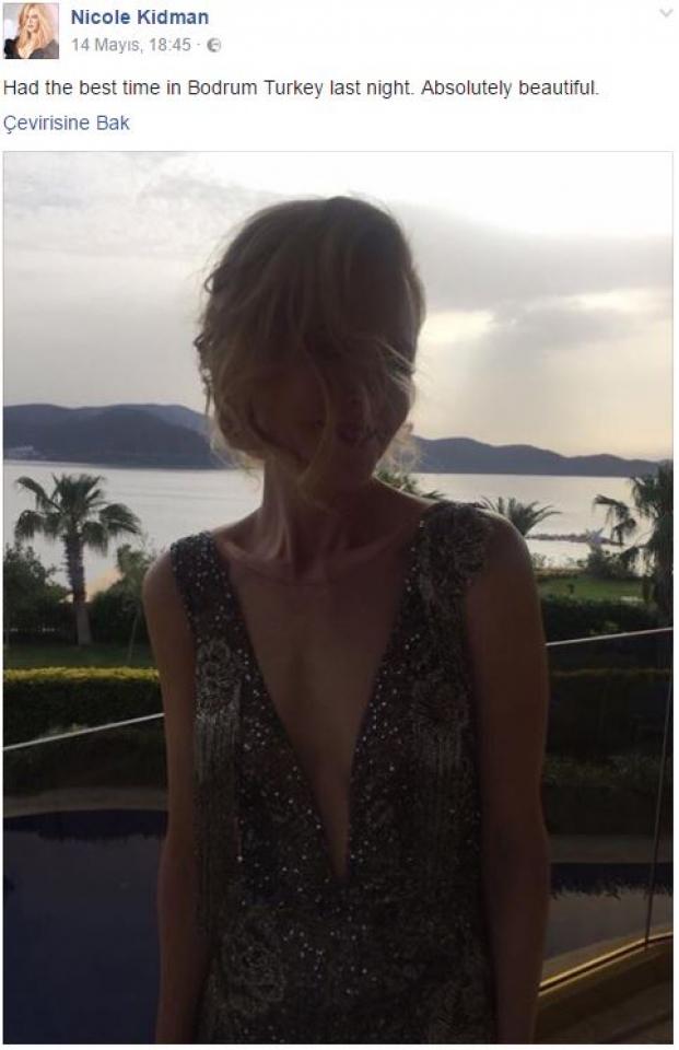 Nicole Kidman Bodrum fotoğrafı paylaştı