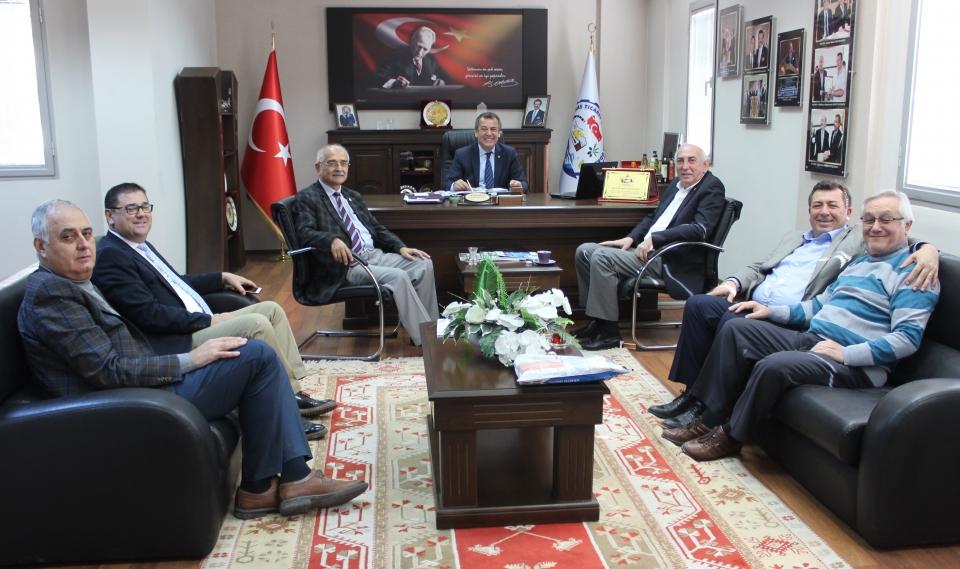 CHP Muğla Milletvekilleri Prof. Dr. Nurettin Demir ile Ömer Süha Aldan MİTSO'yu ziyaret ettiler