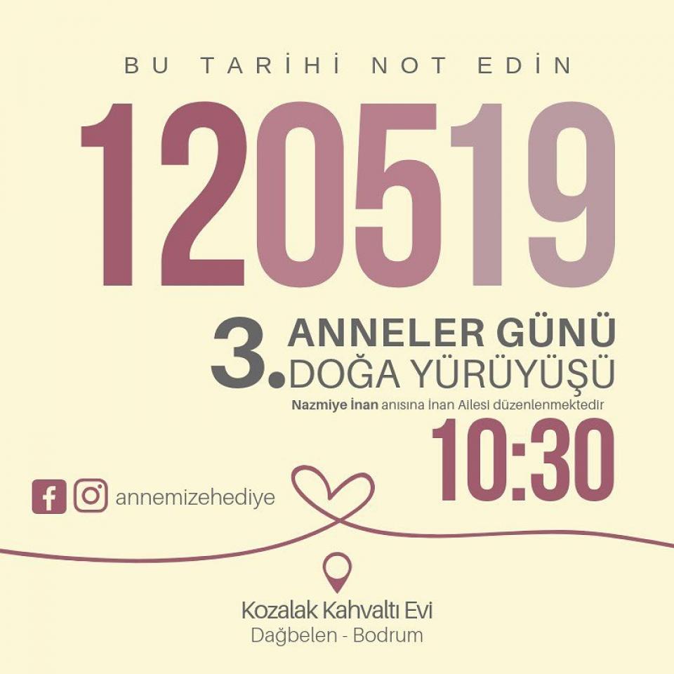 """ANNELERE """"YÜRÜMEK YAŞAMIN HEDİYESİDİR"""""""