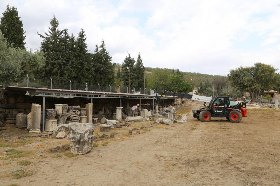 Antik kentteki eserler Taş  hastanesinde