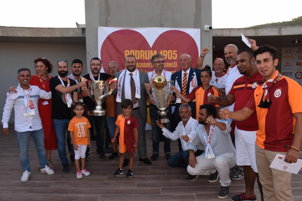 Galatasaray'ın şampiyonluğu Bodrum'da kutlandı