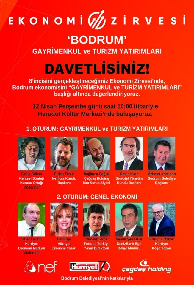 """BODRUM EKONOMİ ZİRVESİ"" Herodot Kültür Merkezi'nde"