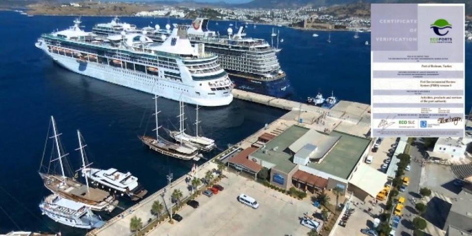 Bodrum Kruvaziyer Limanı Uluslararası EcoPorts Çevre sertifikasını aldı
