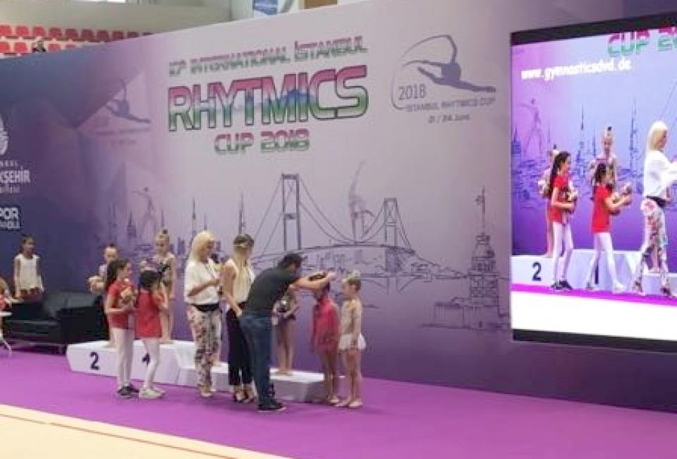 Bodrum Dans Kulübü Ritmik Jimnastik Yarışmasından 3 madalya ile döndü