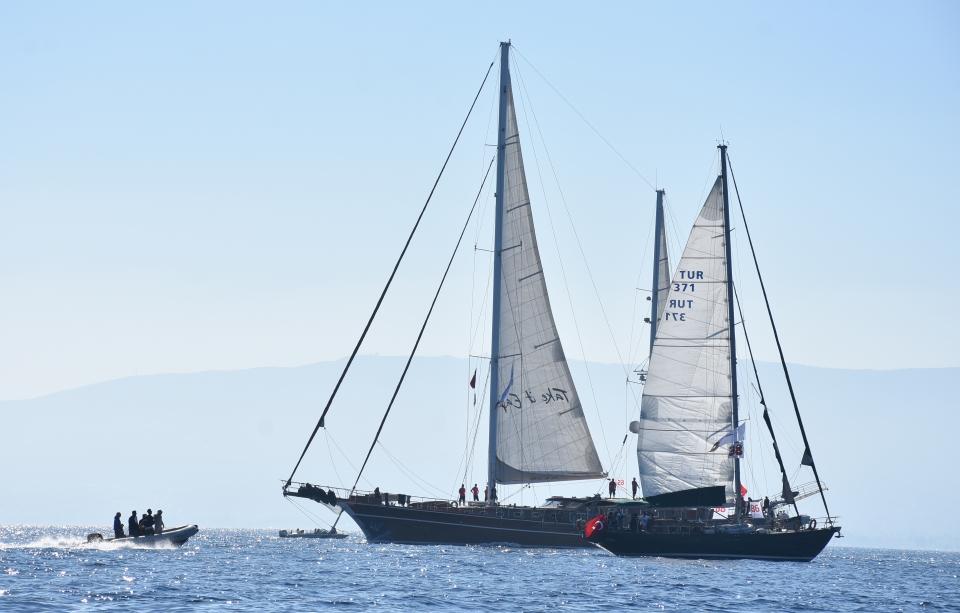 The Bodrum Cup Uluslararası Denizcilik Festivali ve Yat Yarışları  Bodrum-Yalıkavak etabı geçildi