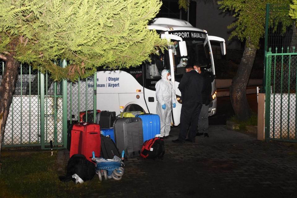 Muğla'ya yurt dışından getirilen 150 kişi yurda yerleştirildi