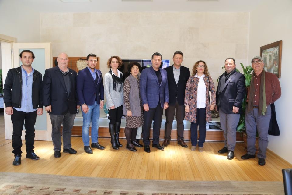 İyi Parti Bodrum ilçe Başkanı'ndan  Başkan Mehmet Kocadon'a ziyaret