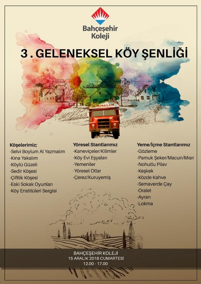 Bodrum Bahçeşehir Koleji 3. Geleneksel Köy  Şenliği