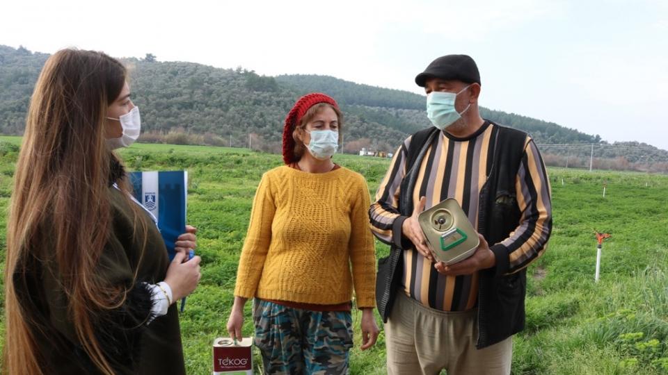 Tarım Haftası'nda üreticilerle buluştular