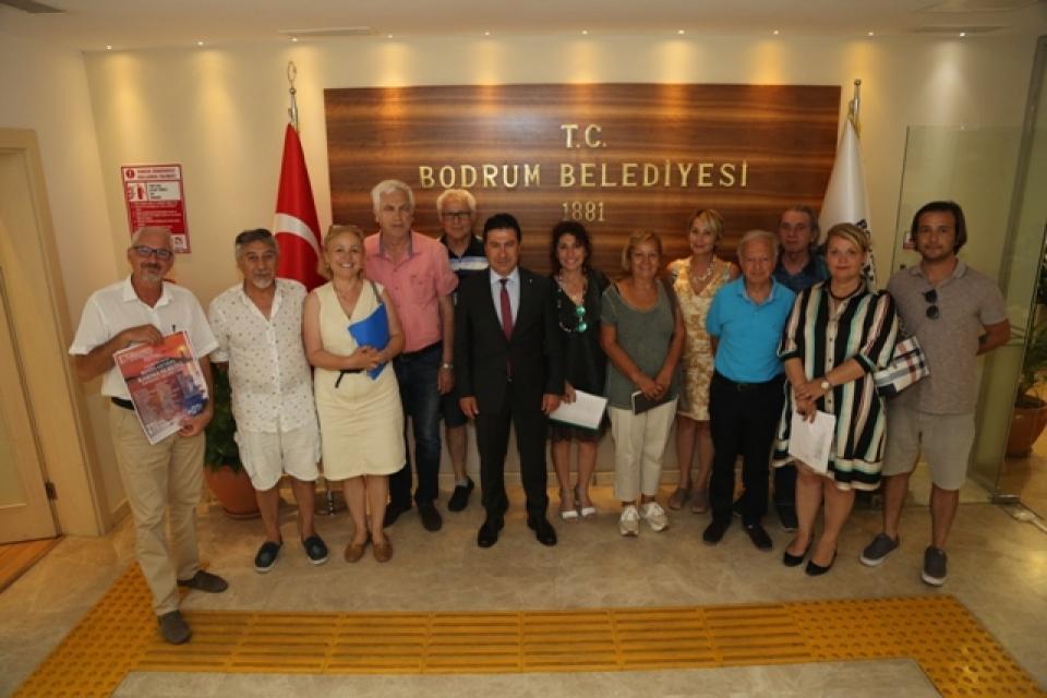 Turgutreis Festival Komitesi Başkan Aras'ı ziyaret etti