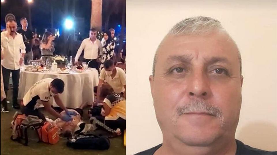 Oğlunun düğününde kalp krizi geçiren baba öldü