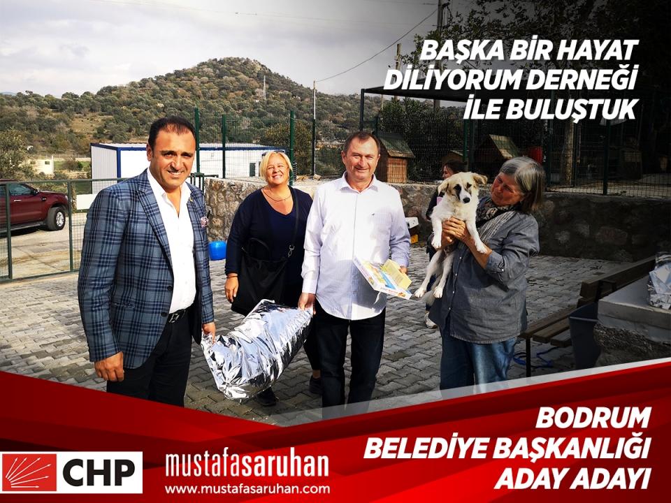 Mustafa Saruhan barınakları ziyaret etti