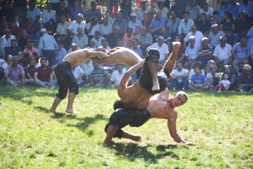 27. Menteşe Beşpınar Yağlı Güreşleri yapıldı