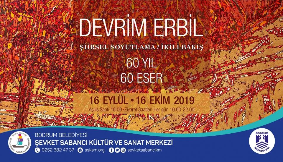 """Devrim Erbil, """"60 Yıl 60 Eser"""" sergisiyle Şevket Sabancı Kültür ve Sanat Merkezi'nde"""