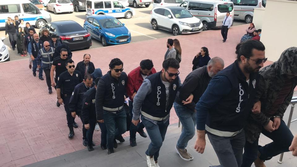 Gözaltına alınan 14 zanlı  adliyeye SEVK edildi