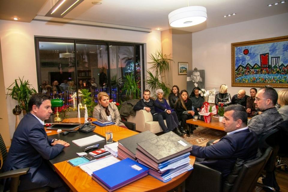 CHP Bodrumİlçe Yönetimi'nden Başkan Aras'a ziyaret