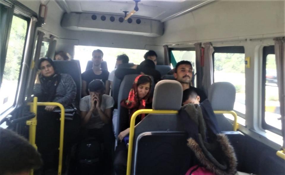 13 göçmen yakalandı