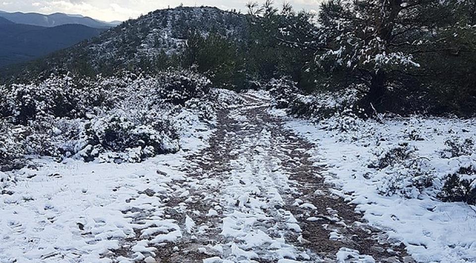 Bodrum'a 4 yıl sonra kar yağdı