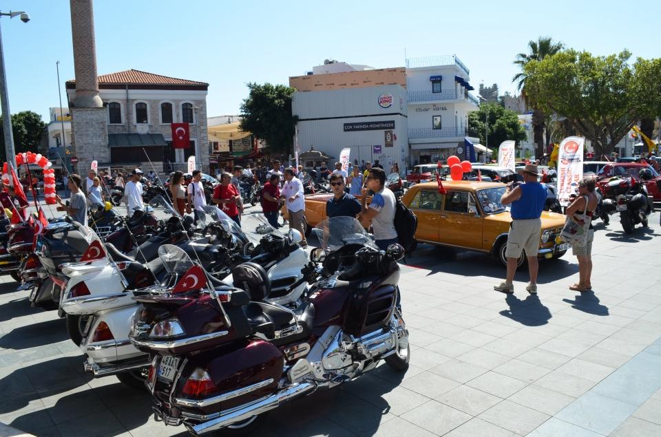Murat 124 tutkunları, motosiklet ve bisikletliler için buluştu