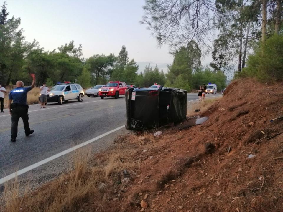Muğla'da devrilen otomobilin sürücüsü öldü