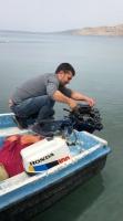 Teknenin motorunun dördüncü kez çalınması güvenlik kamerasına yansıdı