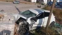 Bodrum'da vinç şarampole devrildi: 2 yaralı