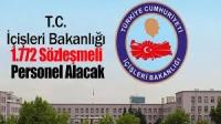 T.C. İçişleri Bakanlığı 1.772 Sözleşmeli Personel Alacak