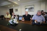 Bodrum'da görevli gazetecilerden Bodrum Kaymakamı Bayar'a ziyaret