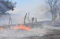 Trafodaki hırsızlık girişimi yangın çıkardı