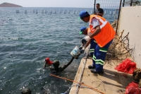 OYFEST'in ilk gününde deniz dibi temizliği