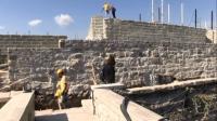 Bodrum Kalesinde restorasyon çalışmaları bir yıldır sürüyor
