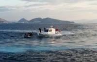 Üç lastik botta 63 düzensiz göçmen yakalandı