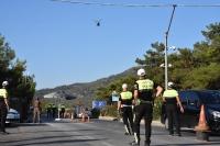 Bodrum'da helikopter destekli trafik uygulaması