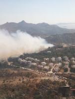 Yangında, 23 hektarlık alan zarar gördü