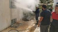 Bodrum'da matbaada yangın