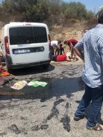 Bodrum'da forklift ile hafif ticari araç çarpıştı: 3 yaralı