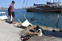 Balık avı festivali, deniz dibi temizliğiyle başladı