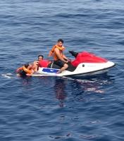 Jet ski ile kaçmaya çalışan 3 düzensiz göçmen yakalandı