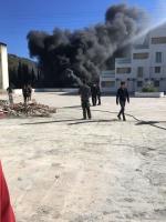 Okulun Yakıt Tankında yangın