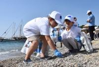 Bodrum'da plaj temizliği etkinliği
