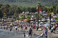 Plajlada  sıcak hava yoğunluğu
