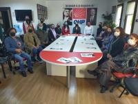 CHP'li kadınlardan 25 KASIM basın açıklaması