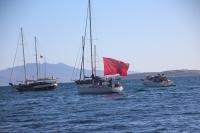 Bodrum'da teknelerin bayraklı seyri ilgi gördü