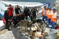 Bardakçı'dan 250 kilogram atık çıkarıldı