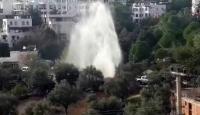 Yokuşbaşı'nda içme suyu hattında patlama
