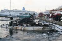 Marmaris'te yat yangını: 1 ölü, 1 yaralı