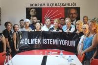 CHP BODRUM'DAN EMİNE BULUT CİNAYETİNE TEPKİ