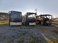 2 otobüs cayır cayır yandı