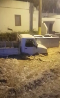 Bodrum'da selde sürüklenen araçlar kamerada