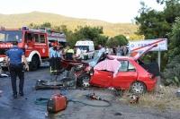 TORBA'DA iki otomobil çarpıştı: 1 ölü, 3 yaralı